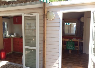 French doors opening onto decking